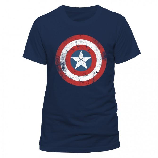 Marvel: Civil War - Cap Shield Distressed T-Shirt