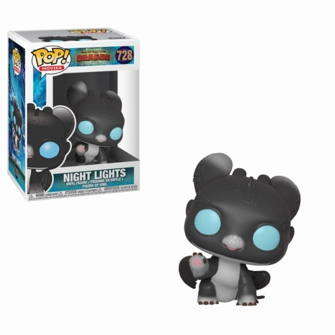 Funko Pop! How To Train Your Dragon 3 - Night Lights (Black with Blue Eyes)