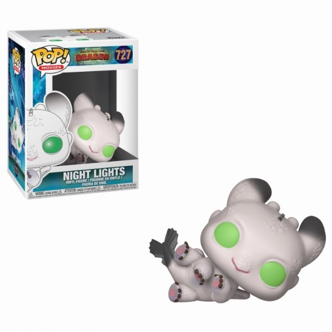 Funko Pop! How To Train Your Dragon 3 - Night Lights (White with Green Eyes)
