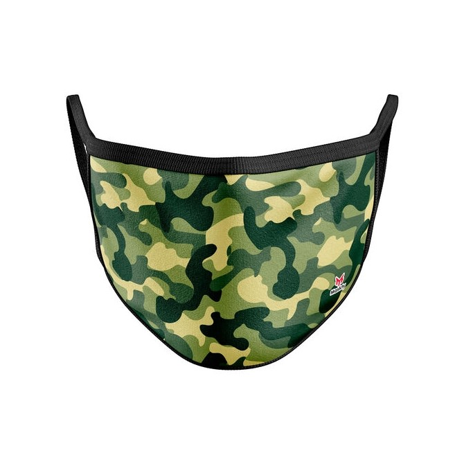 Green Camouflage Reusable Face Mask Cover