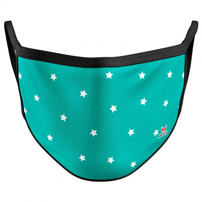 Green Stars Reusable Face Mask Cover