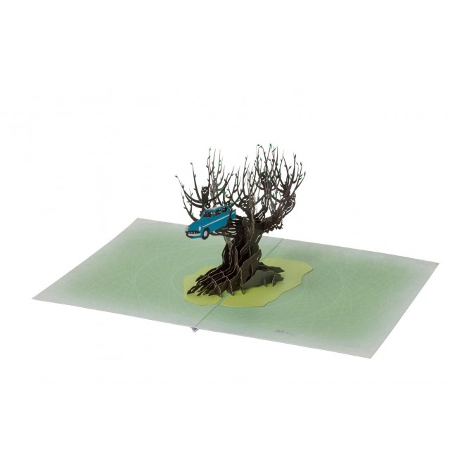 Harry Potter - Whomping Willow 3D Pop-Up Greeting Card