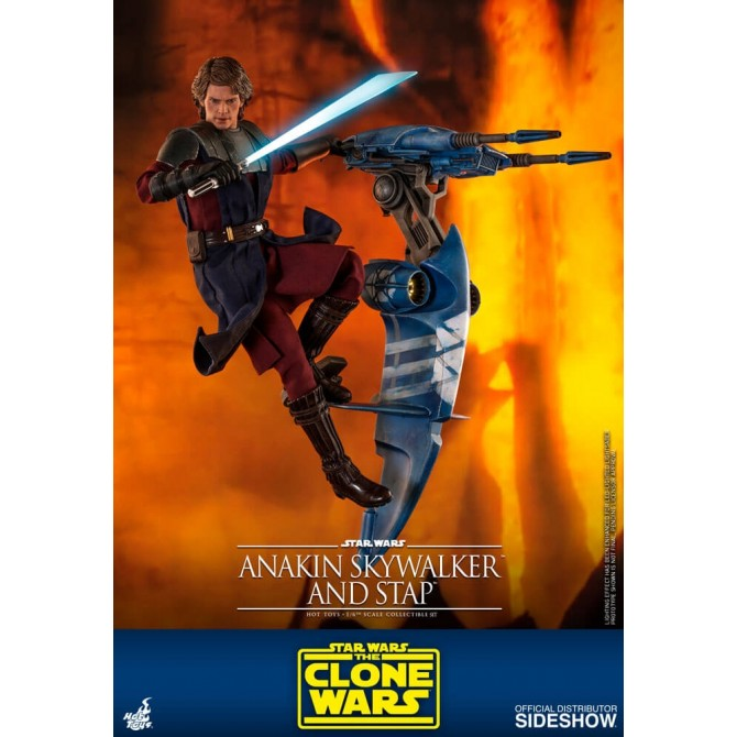 Anakin Skywalker and STAP 1:6 scale Figure - Star Wars: The Clone Wars - Hot Toys