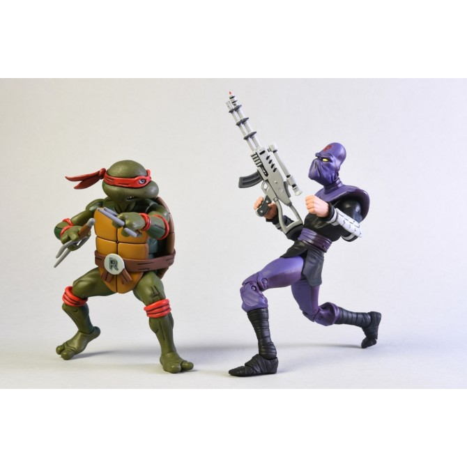 TMNT: Cartoon - Raphael vs Foot Solider Action Figure 2-Pack