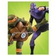 TMNT - Michelangelo vs Foot Solider Action Figure 2-Pack