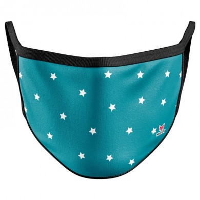 Blue Stars Reusable Face Mask Cover / Mondkapje sterren blauw