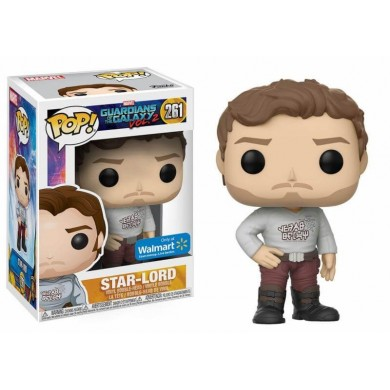 Funko Pop! Marvel: Guardians of The Galaxy 2 - Star-Lord with Gear Shift Shirt Limited Edition