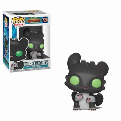 Funko Pop! How To Train Your Dragon 3 - Night Lights - Allison (Black with Green Eyes)