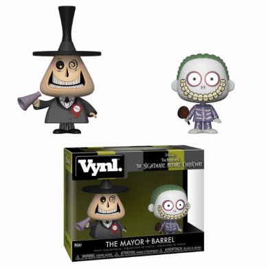 Funko VYNL: The Nightmare Before Christmas - The Mayor & Barrel 2-Pack