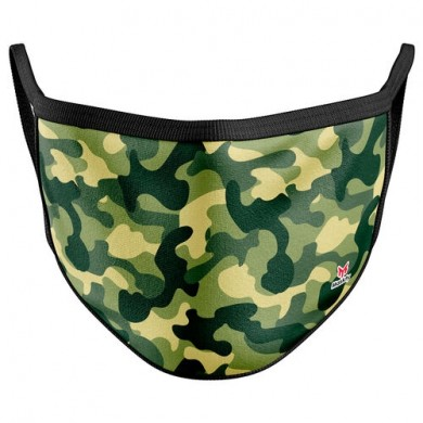 Green Camouflage Reusable Face Mask Cover / Mondkapje camouflage groen