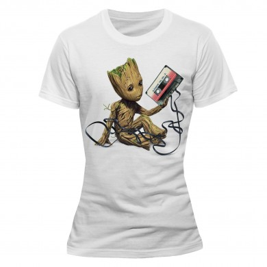 Marvel: Guardians of the Galaxy 2 - Groot & Tape Ladies T-shirt