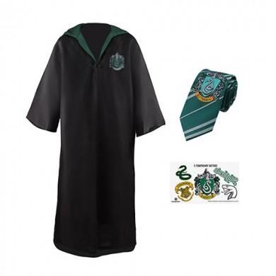 Harry Potter: Slytherin Robe, Necktie & Tattoo Set