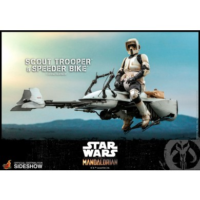 Scout Trooper and Speeder Bike 1:6 scale Figure - The Mandalorian - Hot Toys