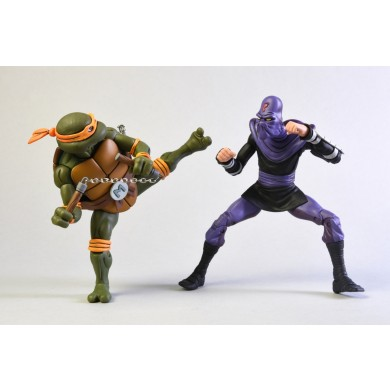 TMNT: Cartoon - Michelangelo vs Foot Solider Action Figure 2-Pack