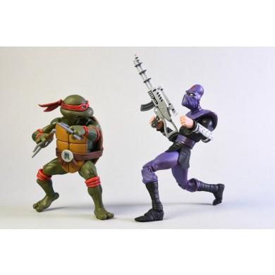 TMNT: Cartoon - Raphael vs Foot Solider Action Figure 2-Pack