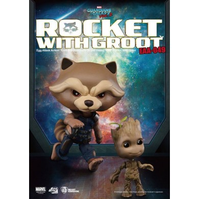 Guardians of the Galaxy Vol. 2 - Rocket Raccoon & Groot Egg Attack Action Figure