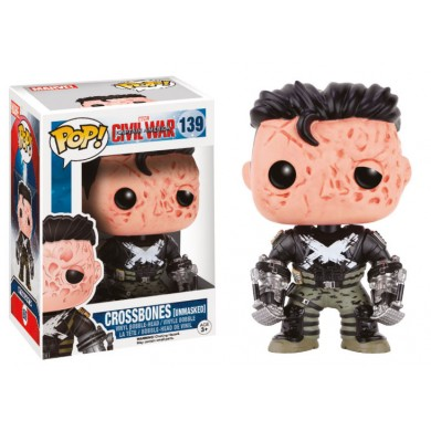 Pop! Marvel: Captain America Civil War - Crossbones (Unmasked)