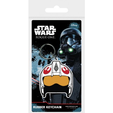 Star Wars: Rogue One - Rebel Helmet Rubber Sleutelhanger